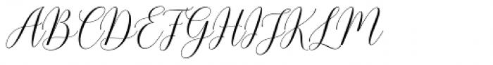 Pamithais Script Italic Font UPPERCASE