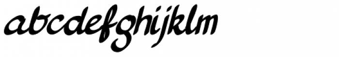Pan Cake Italic Font LOWERCASE