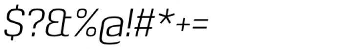 Pancetta Pro Light Italic Font OTHER CHARS
