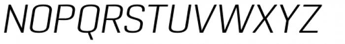 Pancetta Pro Light Italic Font UPPERCASE