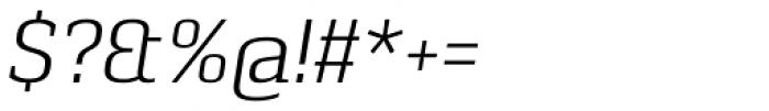 Pancetta Serif Pro Light Italic Font OTHER CHARS