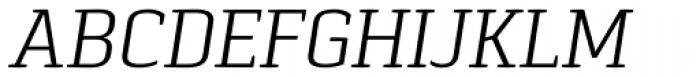 Pancetta Serif Pro Light Italic Font UPPERCASE