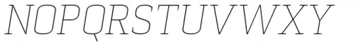 Pancetta Serif Pro Thin Italic Font UPPERCASE