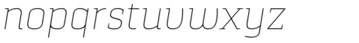 Pancetta Serif Pro Thin Italic Font LOWERCASE