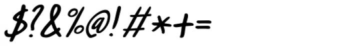 Pandanus Italic Font OTHER CHARS