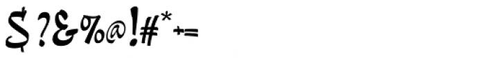 Pando Script Regular II Font OTHER CHARS