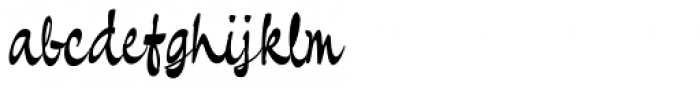 Pando Script Regular II Font LOWERCASE