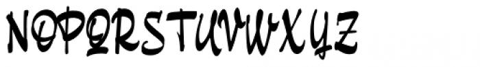 Pando Script Regular Font UPPERCASE