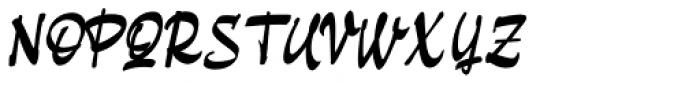 Pando Script Slanted II Font UPPERCASE