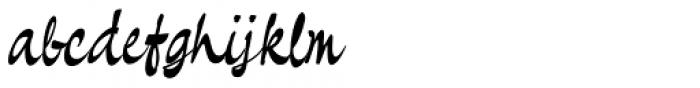 Pando Script Slanted II Font LOWERCASE