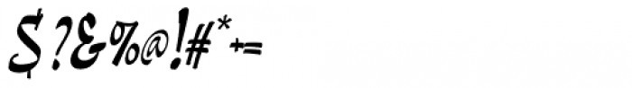 Pando Script Slanted Font OTHER CHARS