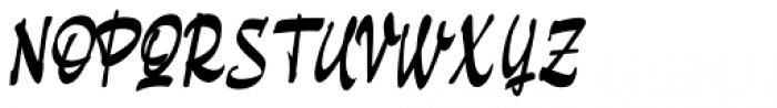 Pando Script Slanted Font UPPERCASE
