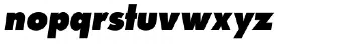 Paneuropa Nova Black Italic Font LOWERCASE