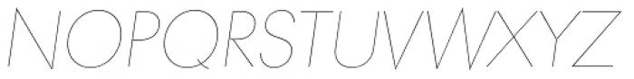 Paneuropa Nova Hairline Italic Font UPPERCASE