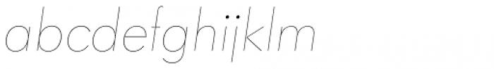 Paneuropa Nova Hairline Italic Font LOWERCASE