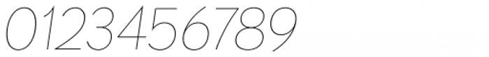 Paneuropa Nova Ultra Thin Italic Font OTHER CHARS