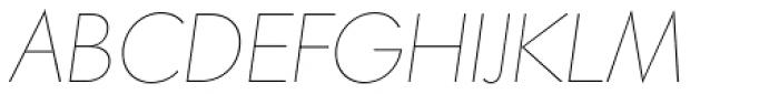 Paneuropa Nova Ultra Thin Italic Font UPPERCASE