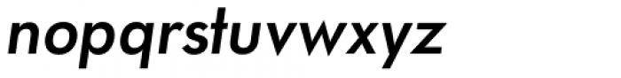 Paneuropa Retro Demi Bold Italic Font LOWERCASE