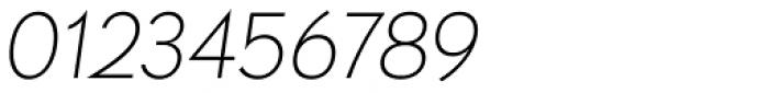 Paneuropa Retro Thin Italic Font OTHER CHARS