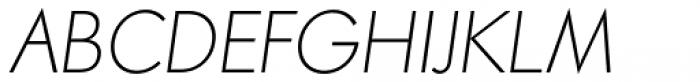 Paneuropa Retro Thin Italic Font UPPERCASE