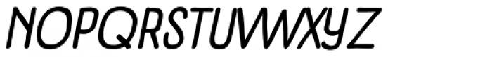 Panforte Condensed Italic Font UPPERCASE