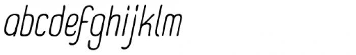 Panforte Pro Light Italic Font LOWERCASE