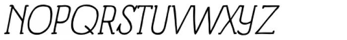 Panforte Serif Light Italic Font UPPERCASE
