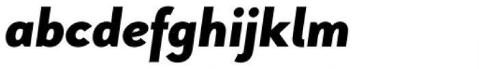 Pani Sans Black Italic Font LOWERCASE