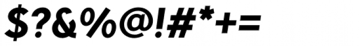 Pani Sans Extra Bold Italic Font OTHER CHARS