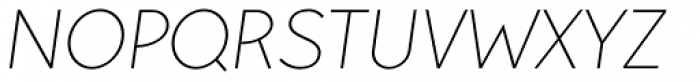 Pani Sans Extra Light Italic Font UPPERCASE