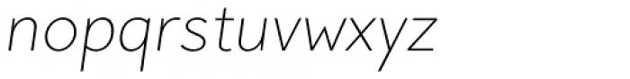Pani Sans Extra Light Italic Font LOWERCASE