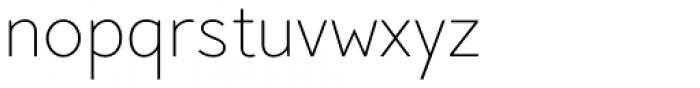 Pani Sans Extra Light Font LOWERCASE
