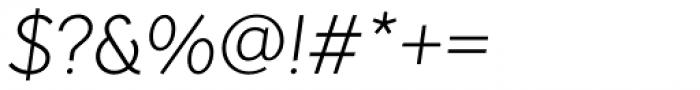 Pani Sans Light Italic Font OTHER CHARS