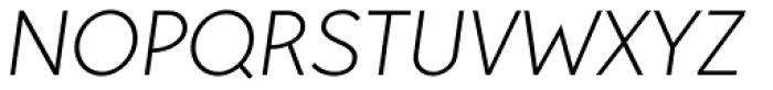 Pani Sans Light Italic Font UPPERCASE