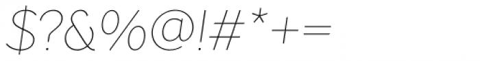 Pani Sans Thin Italic Font OTHER CHARS