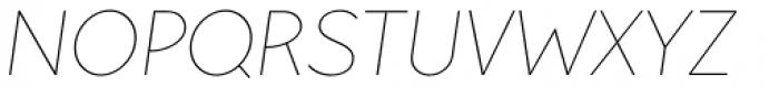 Pani Sans Thin Italic Font UPPERCASE
