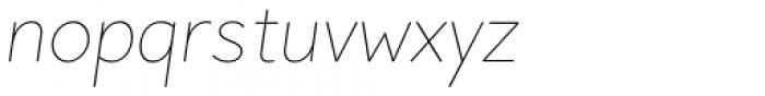 Pani Sans Thin Italic Font LOWERCASE