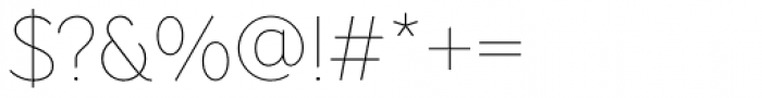Pani Sans Thin Font OTHER CHARS