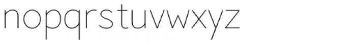 Pani Sans Thin Font LOWERCASE