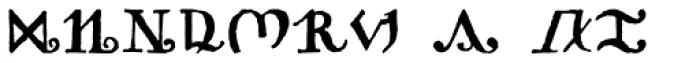 Pantographia Saracen One Font LOWERCASE