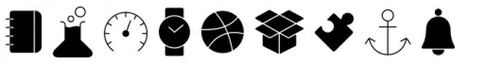 Panton Icons A Fill Light Font UPPERCASE