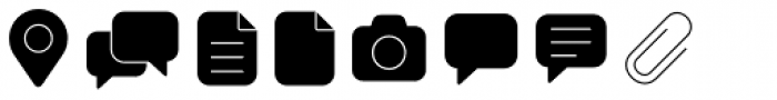 Panton Icons A Fill Light Font LOWERCASE