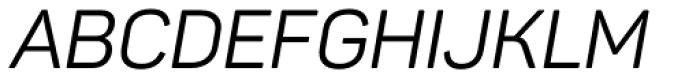 Panton Italic Font UPPERCASE