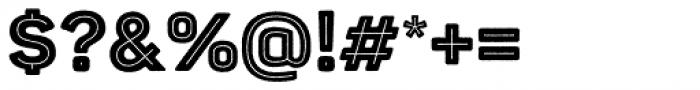 Panton Rust Black Base Inline Font OTHER CHARS