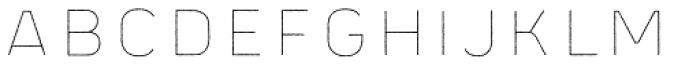 Panton Rust Black Line Font UPPERCASE