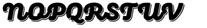 Panton Rust Script Black Base Shadow Font UPPERCASE
