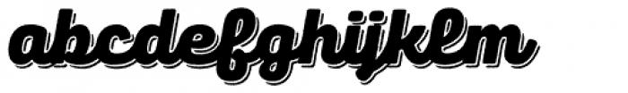 Panton Rust Script Black Base Shadow Font LOWERCASE