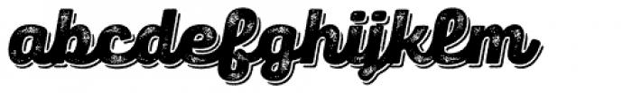 Panton Rust Script Black Grunge Shadow Font LOWERCASE