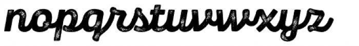 Panton Rust Script Extra Bold Grunge Font LOWERCASE