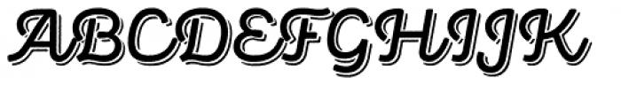 Panton Rust Script Semi Bold Base Shadow Font UPPERCASE